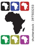 africa continent icon | Shutterstock .eps vector #397503253
