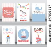 happy birthday  holiday  baby... | Shutterstock .eps vector #397505917