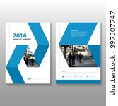 blue vector annual report... | Shutterstock .eps vector #397507747