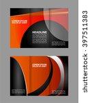 business theme tri fold... | Shutterstock .eps vector #397511383