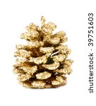 Golden Large Pine Cone With...