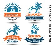 summer holidays design elements ... | Shutterstock .eps vector #397531813