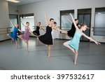 Group Of Ballet Dancers In...