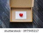 open  empty box  front view  ... | Shutterstock . vector #397545217