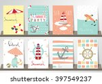 light pink blue collection for... | Shutterstock .eps vector #397549237
