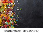 colorful candies  jelly and... | Shutterstock . vector #397554847
