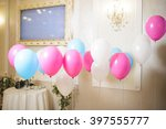 colorful balloons hanging on...   Shutterstock . vector #397555777