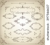 vintage frames   set of ornate... | Shutterstock .eps vector #397566637