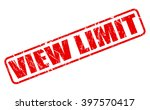 view limit red stamp text on... | Shutterstock .eps vector #397570417