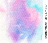 hand painted watercolor... | Shutterstock . vector #397574617