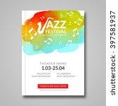 vector musical poster design.... | Shutterstock .eps vector #397581937