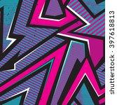 abstract grunge seamless patter ... | Shutterstock .eps vector #397618813