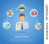 insurance services concept for... | Shutterstock .eps vector #397626007