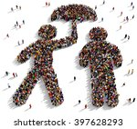 large and diverse group of... | Shutterstock . vector #397628293
