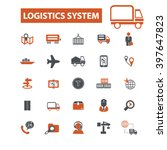logistics system icons  | Shutterstock .eps vector #397647823