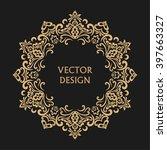 circular baroque pattern. round ... | Shutterstock .eps vector #397663327