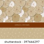 a set of two japanese style... | Shutterstock .eps vector #397666297