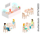 isometric interior of sweet... | Shutterstock . vector #397676833