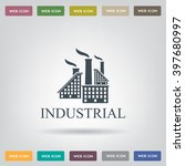 industrial building factory... | Shutterstock .eps vector #397680997