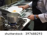 chef's kitchen among the pots... | Shutterstock . vector #397688293