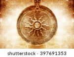 astrological medallion with... | Shutterstock . vector #397691353