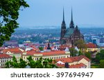 view to the red roofs of  brno... | Shutterstock . vector #397694947
