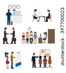 icons on business banking... | Shutterstock .eps vector #397700023