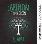 earth day poster on black... | Shutterstock .eps vector #397700833