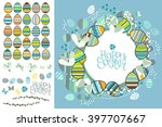 spring greeting card. phrase... | Shutterstock .eps vector #397707667
