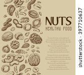vector background with nuts and ... | Shutterstock .eps vector #397710637