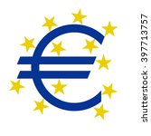 euro currency  symbol with... | Shutterstock .eps vector #397713757