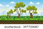 seamless nature cartoon... | Shutterstock .eps vector #397720087