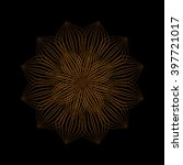 mandala. vintage decorative... | Shutterstock .eps vector #397721017