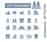 city buildings icons  | Shutterstock .eps vector #397722703