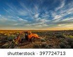 Wreck In Karoo Landscape