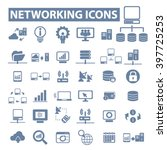 networking icons  | Shutterstock .eps vector #397725253