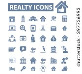 realty icons  | Shutterstock .eps vector #397726993