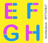 abstract letters e f g h logo... | Shutterstock .eps vector #397737817