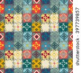 ethnic seamless pattern. tribal ... | Shutterstock .eps vector #397739857