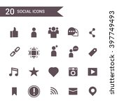 social icon set vector.... | Shutterstock .eps vector #397749493