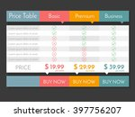 vector pricing table for... | Shutterstock .eps vector #397756207