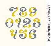 lettering style arabic numerals.... | Shutterstock .eps vector #397756297