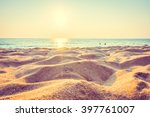 beautiful beach sand and sea at ... | Shutterstock . vector #397761007