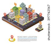 road in the city isometric ...   Shutterstock .eps vector #397762567