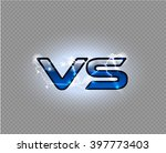 versus blue sparkling lightning ... | Shutterstock .eps vector #397773403