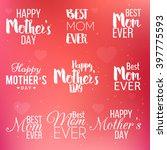 set of badge  labels for happy... | Shutterstock .eps vector #397775593