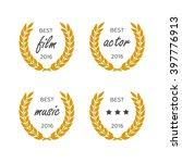 set of awards for best. black... | Shutterstock .eps vector #397776913