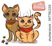 vector cartoon illustration of... | Shutterstock .eps vector #397781233