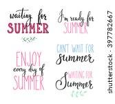 hello summer lettering... | Shutterstock .eps vector #397782667