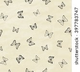 set of hand drawn butterflies.... | Shutterstock .eps vector #397783747